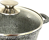 Каструля з мармуровим антипригарним покриттям Benson BN-351 (3,2 л) | казан з кришкою Бенсон | каструлі Бэнсон, фото 2