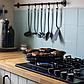 Сковорода гриль-газ Benson BN-803 с мраморным антипригарным покрытием | сковородка для гриля на газу Бенсон, фото 4