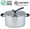 Кастрюля Edenberg EB-3691 из нержавеющей стали с крышкой 0,8 л   Кастрюля Эденберг, фото 2
