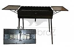 Мангал валізу товщина 3 мм з двома столиками на 7 шампурів