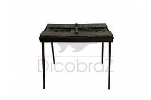 Мангал чемодан толщина 3 мм с двумя столиками на 7 шампуров ( отличный подарок, качественная сборка), фото 2