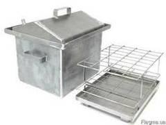 Домашня Коптильня з гідрозатворів сталь і неіржавіюча сталь