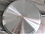 Сковорода Benson BN-637 з нержавіючої сталі (28 см)   металевий сотейник Бенсон   хорика Бэнсон, фото 5