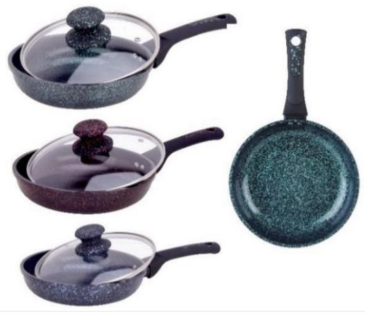 Сковорода Edenberg EB-3416 з мармуровим антипригарним покриттям 24 см