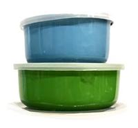 Набор судочков Benson BN-651 эмалированных (5 шт)   судок для еды Бенсон   пищевые контейнеры Бэнсон   судки, фото 1