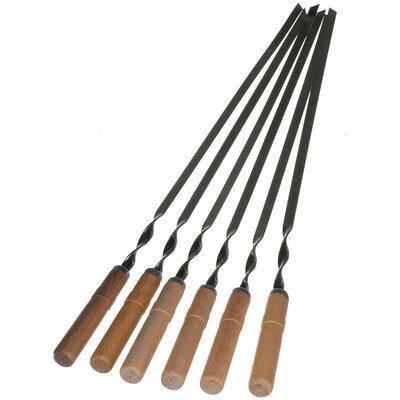 Шампур с деревянной ручкой плоский 600х10х 3мм., фото 2