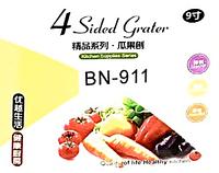 Тёрка Benson BN-911 из нержавеющей стали 4 стороны | шинковка | кухонная терка из нержавейки Бенсон, Бэнсон, фото 1