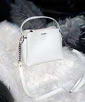 Женская плечевая сумка из экокожи Zara реплика Белая, фото 1