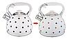 Чайник Edenberg EB-1908 зі свистком з нержавіючої сталі 3 л   Свистячий металевий чайник, фото 2
