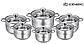 Набор кастрюль Edenberg EB-3731 из 6 предметов из нержавеющей стали, фото 2