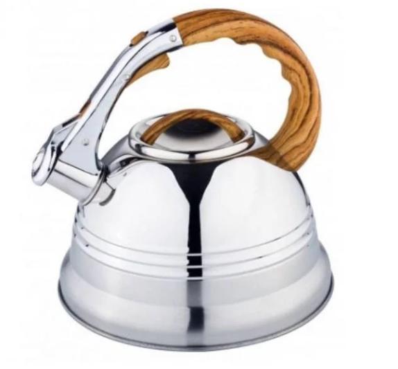 Чайник Edenberg EB-1957 со свистком из нержавеющей стали 3 л индукция | Свистящий металлический чайник