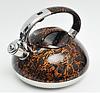 Чайник Edenberg EB-1959 со свистком из нержавеющей стали 3 л индукция | Свистящий металлический чайник, фото 3