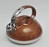 Чайник Edenberg EB-1959 со свистком из нержавеющей стали 3 л индукция | Свистящий металлический чайник, фото 4