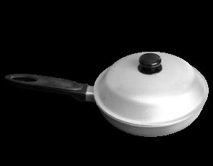 Сковорода с ручкой и крышкой 300 мм, фото 2
