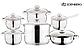 Набор посуды Edenberg EB-4010 кастрюли сотейник и ковш из 6 предметов, фото 2