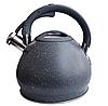 Чайник Edenberg EB-1976 зі свистком з нержавіючої сталі 3,5 л індукція | Свистячий металевий чайник, фото 2
