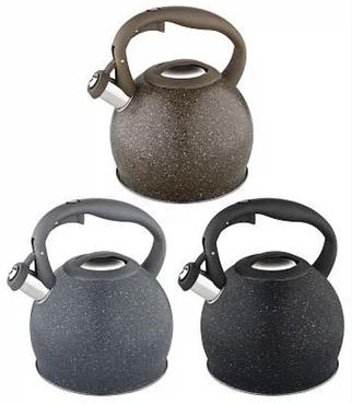 Чайник Edenberg EB-1983 со свистком из нержавеющей стали 3 л   Свистящий металлический чайник
