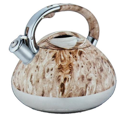 Чайник Edenberg EB-1984 зі свистком з нержавіючої сталі 3 л | Свистячий металевий чайник