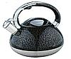 Чайник Edenberg EB-1984 зі свистком з нержавіючої сталі 3 л | Свистячий металевий чайник, фото 2