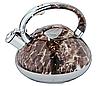 Чайник Edenberg EB-1984 зі свистком з нержавіючої сталі 3 л | Свистячий металевий чайник, фото 3