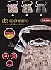 Чайник Edenberg EB-1985 зі свистком з нержавіючої сталі 3 л   Свистячий металевий чайник, фото 4
