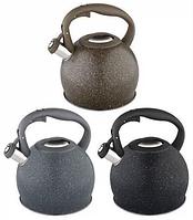Чайник Edenberg EB-1983 со свистком из нержавеющей стали 3 л | Свистящий металлический чайник, фото 1