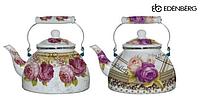 Чайник Edenberg EB-3359 эмалированный с рисунком 5 л, фото 1