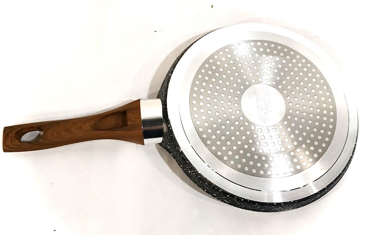 Сковорода блинная Benson BN-528 (24 см) с антипригарным мраморным покрытием | сковородка для блинов Бенсон