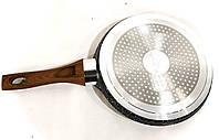 Сковорода блинная Benson BN-528 (24 см) с антипригарным мраморным покрытием | сковородка для блинов Бенсон, фото 1