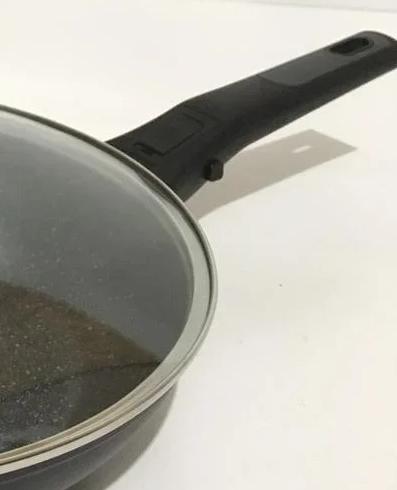 Сковорода Benson BN-558 (26 см) с антипригарным мраморным покрытием с крышкой | сковородка Бенсон, Бэнсон