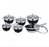 Набор посуды Edenberg EB-4049 кастрюли сковорода и ковш из 6 предметов