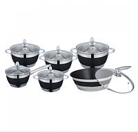 Набор посуды Edenberg EB-4049 кастрюли сковорода и ковш из 6 предметов, фото 1