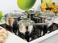 Набор посуды Edenberg EB-4074 из 5 предметов кастрюли и ковш из нержавеющей стали, фото 1