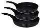 Набор сковородок Edenberg EB-1735 с антипригарным мраморным покрытием 3 предмета, фото 2