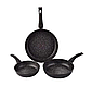 Набір сковорідок Edenberg EB-1735 з мармуровим антипригарним покриттям 3 предмета, фото 3
