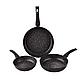 Набор сковородок Edenberg EB-1735 с антипригарным мраморным покрытием 3 предмета, фото 3