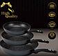 Набор сковородок Edenberg EB-1735 с антипригарным мраморным покрытием 3 предмета, фото 4