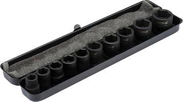 Набір ударних головок 10-22 мм 10 предметів YATO YT-37690, фото 2