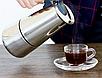 Гейзерна кавоварка Edenberg EB-1807 з нержавіючої сталі   турка Эденберг, фото 2