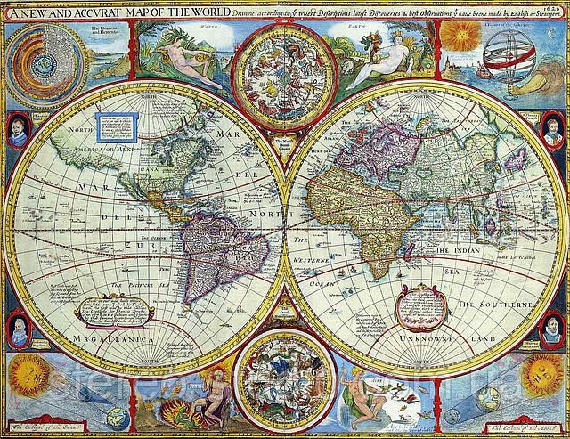Декоративная карта 100см х 77см