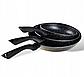 Набор сковородок Edenberg EB-9901 с антипригарным мраморным покрытием 3 предмета, фото 2