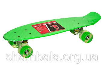 """Скейтборд ZK """"Skate green"""" (072234)"""