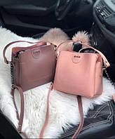 Женская плечевая сумка из экокожи Zara реплика Сливовая