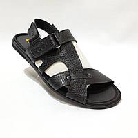 Мужские кожаные сандалии в стиле Ecco отличного качества, фото 1
