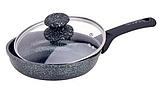 Сковорода Edenberg EB-3418 з мармуровим антипригарним покриттям 28 см, фото 2
