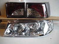 Передние фары+задние фонари на ВАЗ 2110 №6 (хром+тонированные)