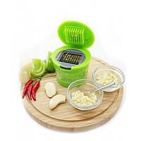 Измельчитель чеснока чили перца Kitchen&Home Garlic Chopper 2 насадки