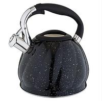 Чайник Edenberg EB-1904 со свистком из нержавеющей стали 3 л индукция | Свистящий металлический чайник, фото 1