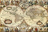 Старинная карта 100см х 68см, фото 1
