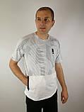 Белая  трикотажная футболка, фото 5